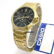 MTP-V300G-1A Relógio Casio Masculino Analógico Aço Dourado