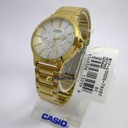 MTP-V300G-7A Relógio Casio Masculino Analógico Aço Dourado