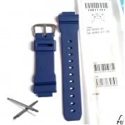 Pulseira Azul + Par de Pinos DW-9052-2 Casio G-Shock Resina Azul