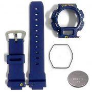 Pulseira + Bezel + Anel vedação + Bateria DW-9052 Azul Casio G-Shock