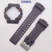 Pulseira + Bezel Capa Casio G-shock Ga-110TS-1a4 Cinza