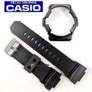 Pulseira + Bezel (Capa) Casio G-Shock Ga-201ba-1a Preto verniz