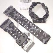Pulseira + Bezel (capa) GA-100cm-8 / GD-120CM-8 Casio G-Shock Camuflado Cinza