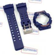 Pulseira + Bezel (Capa) GA-110fc-2 Casio G-Shock Azul Fosco