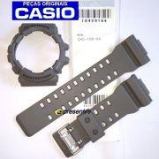 Pulseira + Bezel (Capa) GAC-100-8A Casio G-Shock Cinza / Caqui