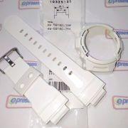 Pulseira + Bezel Casio G-shock Branco Aw-591SC-7 Peças Originais
