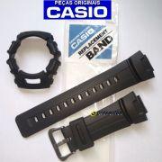 Pulseira + Bezel Casio G-shock G-2110, G-2300, G-2310, GW-2320 G-2400  GL-170 Preto Fosco