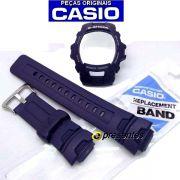 Pulseira +  Bezel Casio G-shock G-7500 G-7510 AZUL