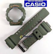 Pulseira + BEzel Casio G-shock GA-110LN-3a Verde e Laranja - Peças Originais