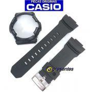 Pulseira + Bezel Casio G-Shock GA-200-1A  Preto fosco