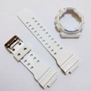 Pulseira + Bezel Casio G-Shock GD-100sc-7 Branco Brilhante Verniz