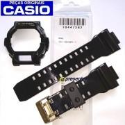 Pulseira + Bezel Casio G-shock GD-350BR-1 Resina Preto Brilhante (Verniz)