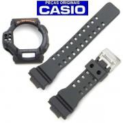 Pulseira + Bezel Casio G-shock GDF-100 1b Resina Preto Fosco