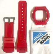 Pulseira + Bezel Casio G-Shock GLX-5600-4 Resina Vermelho Verniz