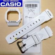 Pulseira + Bezel Casio G-Shock GLX-5600-7 G-lide Branco Brilhante