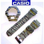 Pulseira + Bezel Casio GD-X6900cm-5 / GD-x6900TC-5v G-shock Camuflado Verde