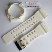 Pulseira + Bezel Casio Ghock Ga-110wb-7a Branco Fosco