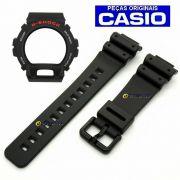 Pulseira + Bezel Dw-6900-1v Casio G-Shock