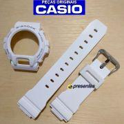 Pulseira + Bezel DW-6900PL-7 Branco Brilhante 100% Original Casio G-Shock