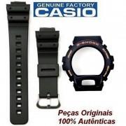 Pulseira + Bezel DW-6900G DW6600g Fivela Aço Inox