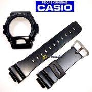 Pulseira + Bezel DW-6900PL-1 Preto Semi Brilho Casio G-Shock