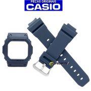 Pulseira + Bezel G-5600 GW-M5610 Azul Naval Casio G-shock - Peças Originais