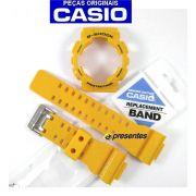 Pulseira + Bezel  GA-100A-9A Casio G-shock Amarelo Brilhante