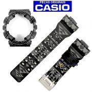 Pulseira + Bezel GA-110TP-1A Casio G-shock Preto / GRAFITE TRIBAL