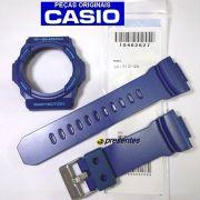 Pulseira + Bezel GA-310-2 Casio G-shock Azul Peças 100% Genuínas