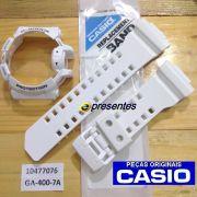 Pulseira + BEZEL GA-400-7A Branco Brilhante Casio G-shock