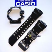 Pulseira + Bezel GBA-400-1A9 Preto Verniz Casio G-shock Mix
