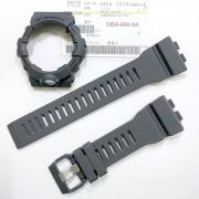 Pulseira + Bezel GBA-800-8A Casio G-Shock Resina Cinza Fosco