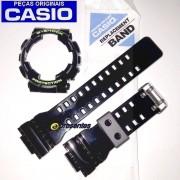 Pulseira + Bezel GD-100SC-1 Casio G-shock Preto Brilhante