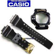 Pulseira + Bezel GDF-100GB-1 Preto Brilhante - 100% Original Casio G-shock