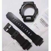 Pulseira + Bezel Originais GD-x6900-1 Casio G-Shock Preto Semi brilhante.