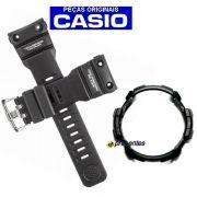 Pulseira + Bezel Originais GN-1000 Casio G-shock Preto Fosco