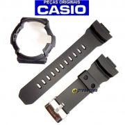 Pulseira + Bezel Preto Fosco GA-201-1a Casio G-Shock - Peças Originais