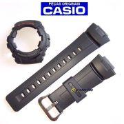 Pulseira + Capa Bezel Casio G-shock G-101-1av Preto - 100% Original