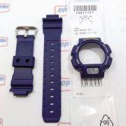 Pulseira + Capa Casio G-shock Azul Dw-9052-2, Dw-9050, Dw-9000, Dw-9051