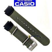 Pulseira Casio AE-1200WHB MRW-200HB Nylon/Couro Verde (18MM) 100% Original