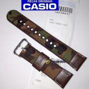Pulseira Casio AMW-705B-1av Couro / Tecido Camuflado - 100% original