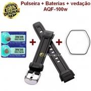 Pulseira Casio Aqf-100w + 2 Baterias + 1 vedação