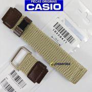 Pulseira Casio Aw-80v-5 Tecido Couro Nylon -100% Original