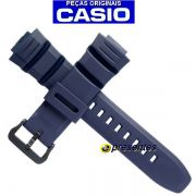 Pulseira Casio Azul W-S220-2AV - 100% Original * 26/16mm