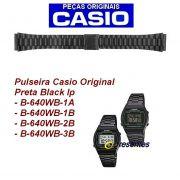 Pulseira Casio B640WD Aço Inox Black Ip Preto fosco -100% Original