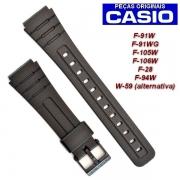 Pulseira Casio + Bateria CR2016 F-28 , F-91, F-94, F105, F-106
