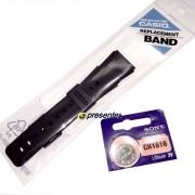 Pulseira Casio Databank DDBC-61, DBC-62* 25/22mm Resina Preta