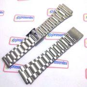 Pulseira Casio DB-360-1A DB-360N-1 aço Inox Fecho deslizante