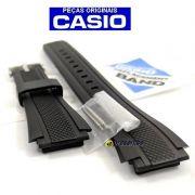 Pulseira Casio EF-552, EF-552PB Resina Preta (borracha) -  100% Original