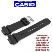 Pulseira Casio G-Shock Preto Fosco GAW-100 Ga-150-1A Ga-150mf GAS-100  - 100% Original